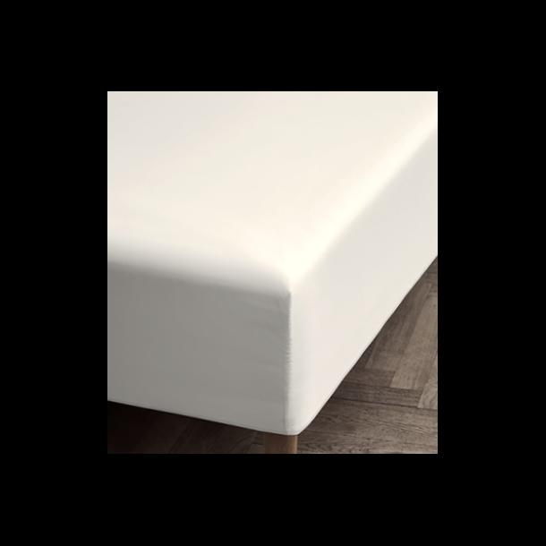 Juna Percale Boxlagen 140 X 200 X 30 cm. - Hvid