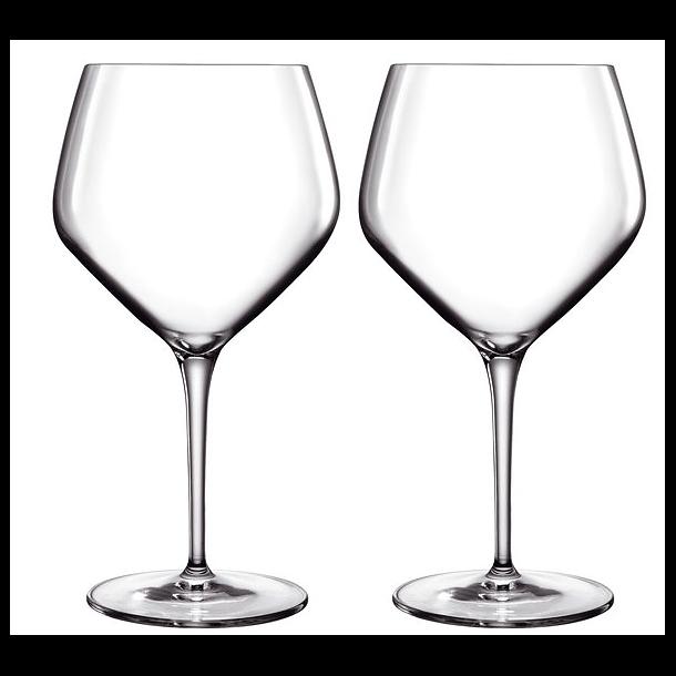 LB Atelier Hvidvinsglas Chardonnay 2 stk. Klar - 70 cl.