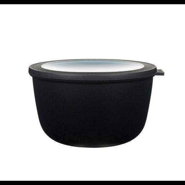 Mepal Cirqula Skål m/ Låg 2000 ml - Sort